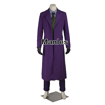 Batman Heath Ledger Joker Cosplay Superhero Costume Men Halloween Fancy Dress](Heath Ledger Joker Costume Halloween)