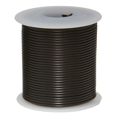 28 Awg Gauge Stranded Hook Up Wire Black 100 Ft 0.0126 Mil Spec 600 Volts