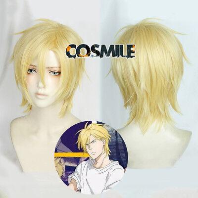 Banana Fish Ash Lynx Aslan Cosplay Hair Wig Anime Milk golden Anime Sa - Aslan Costume