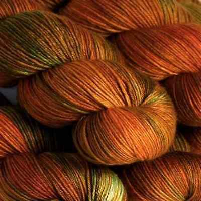 Hedgehog Fibres ::Sock Yarn Copper Penny:: merino wool yarn