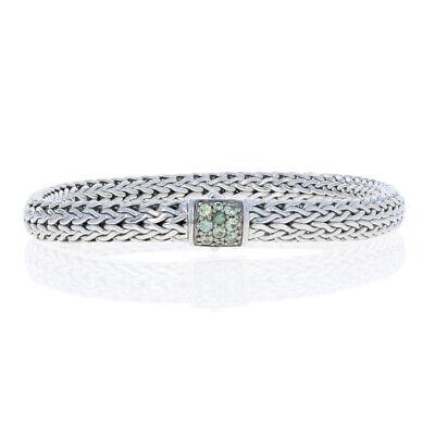 "NEW John Hardy Classic Chain Lava Smoky Sapphire Bracelet Sterling 7 1/4"" 925"