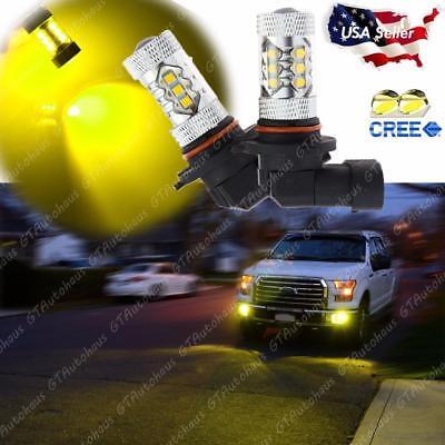 H10 9145 9005 High Power Gold Yellow 100W LED Fog Driving Light Projector Bulbs