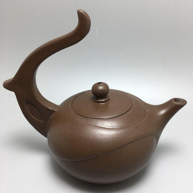OldZiSha-Rare Chinese Yixing ZiSha Old Small ZhuNi Teapot For Brew Tea  198g 83