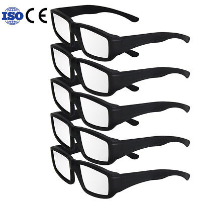 5Pcs Plastic Solar Eclipse Glasses Ce And Iso Certified Safe Sun Glasses