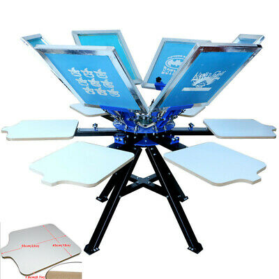 6 Color 6 Station Silk Screen Printing Press Machine Screen Printer Heavy Duty