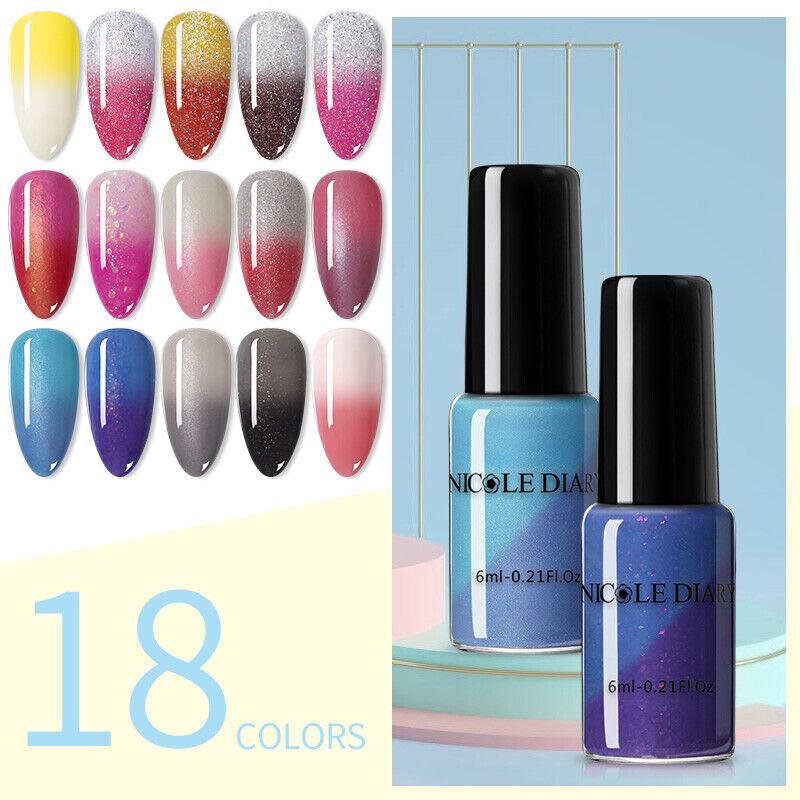 NICOLE DIARY Thermal Nail Polish Color-changing Varnish Nail