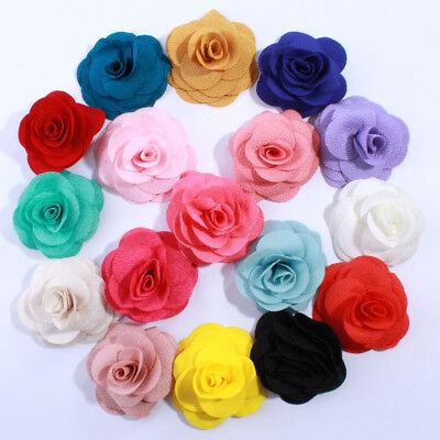 30pcs 7CM Big Fashion Burlap Fabric Flowers For Headwear Hair Flower](Burlap Flowers Bulk)