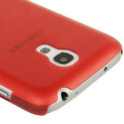 Samsung i9190 i9195 Galaxy S4 Mini - Coque arrière rigide translucide - Rouge