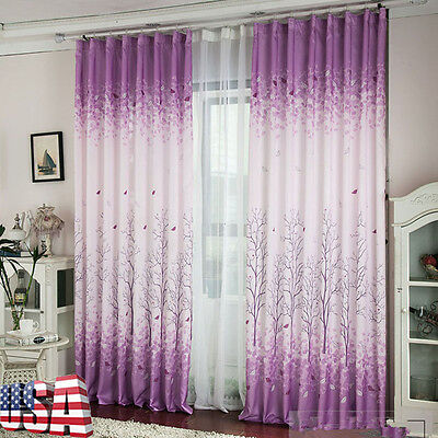 Blackout Valances Calico Room Door Window Curtain Drape Panel Scarf Divider US