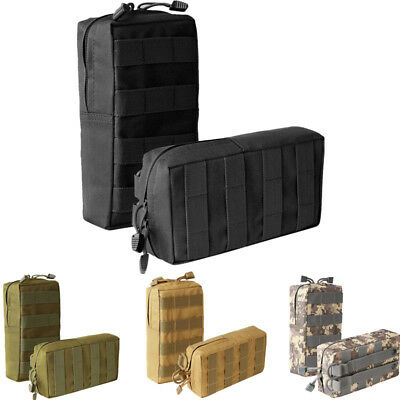 - 2 Pack Molle Pouch Tactical Compact Waterproof Utility Gear Pouch Bag 4 Colors