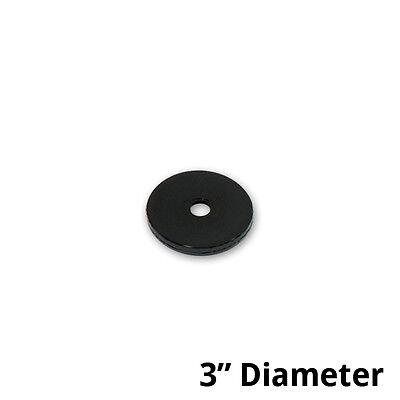 Black Plastic Revolving Display Base 3d X 0.5h Inches- Case Of 10