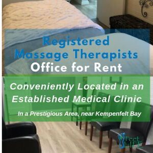 Registered Massage Therapists Office for Rent.