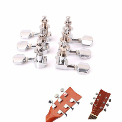 6pack Acoustic Guitar String Button Tuning Pegs Chrome-plated Locked Tuner Knob