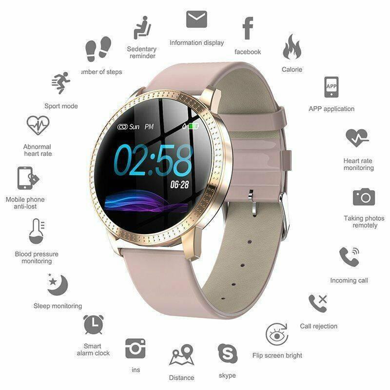 CF18 Bluetooth Smart Watch Bracelet Heart Rate & Blood Press