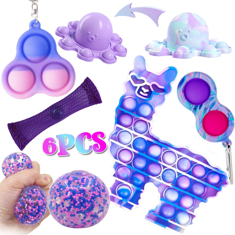 6pcs Fidget Toys Pack Sensory Tools Bundle Stress Relief Hand Kids Adults Toys