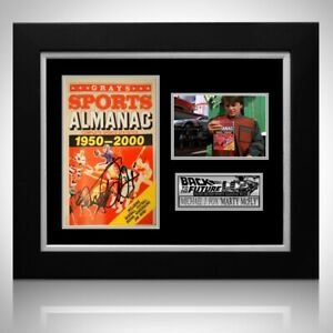 Back To The Future ALMANAC Hand Sign Michael J Fox Custom Frame