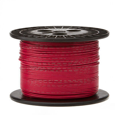 20 Awg Gauge Stranded Hook Up Wire Red 1000 Ft 0.0320 Ul1007 300 Volts