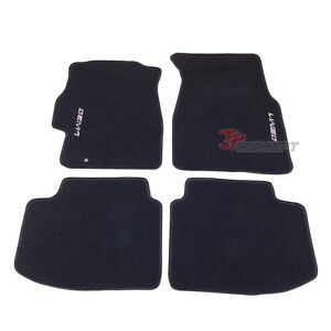Promotion!!! Fit 96-00 Honda Civic 2Dr 4Dr Black Nylon Floor Mats Carpets 4pcs