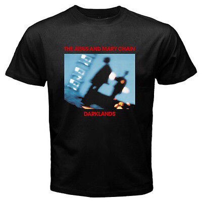 New The Jesus and Mary Chain Darklands Rock Band Men's Black T-Shirt Size - Jesus The Rock