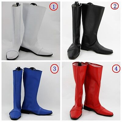 White Power Ranger Power Rangers Superhero black red blue cosplay Boots shoes (Power Rangers Boots)