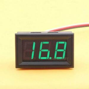 DC 0-30V Voltmeter LED Panel 3-Digital Display Volt Voltage Meter for Motorcycle