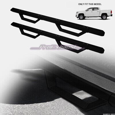 For 2015-2020 Colorado/Canyon Crew Cab Matte Blk Aluminum Modular Drop Step Bars