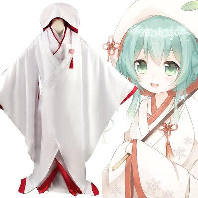 Japanese Traditional Kimono Shiromuku Hyuga Hinata Miku Cosplay Wedding Dress