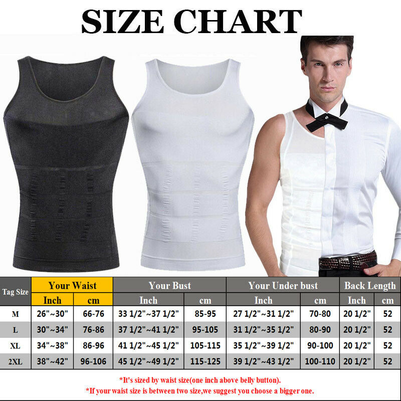 Mens Ultra Lift Body Slimming Compression Vest Shirt Body -2141