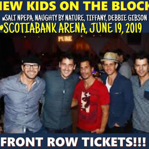 NEW KIDS ON THE BLOCK @ SCOTIABANK- FRONT ROW TICKETS!