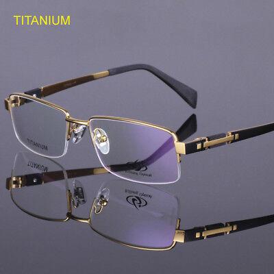 Titanium Eyeglass Frames Half Rimless Men's Spectacle Frame Glasses Frames (Titanium Rimless Eyeglasses)