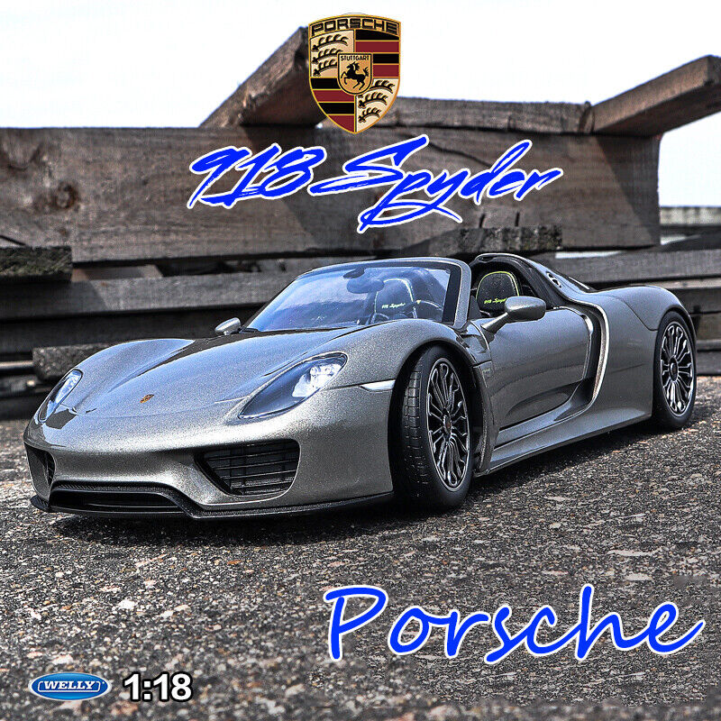 Maisto 1:64 Scale Porsche 918 Blue Vehicle Diecast Car Model Toy Gift