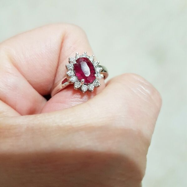S$2,009.99 - RUBY PLATINUM RING