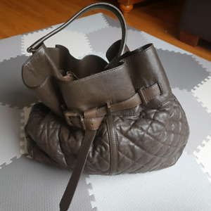 Large Burberry leather hobo purse