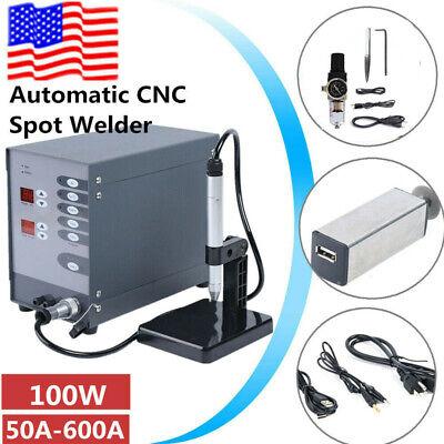 110v Automatic Cnc Spot Welding Machine Pulse Argon Arc Welder Brush Grinder