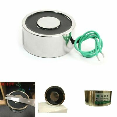 Dc12v 176lb 80kg Sucked Electric Lifting Magnet Electromagnet Holding 65mm New