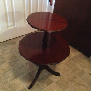 Antique two tier mahogany table