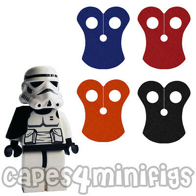 CUSTOM Polycotton Starwars Pauldron capes x 4.  Lego minifigs not included.
