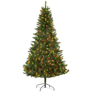 McLeland Design 7' Prelit Christmas Tree - Multicolored Lights