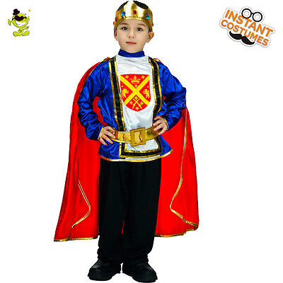 King&Prince Costumes kids Halloween Brave Crusader Cosplay Fancy Dress for boys - Prince Costumes For Kids