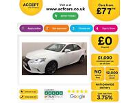 Lexus IS 300h 2.5 ( 181bhp ) E-CVT 2014MY F Sport FROM £77 PER WEEK!