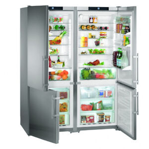 "NEW 60"" LIEBHERR SIDE-BY-SIDE BUILT IN 80"" TALL FRIDGE/FREEZER"