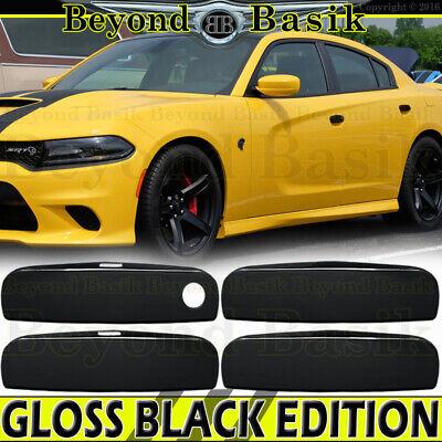 2011-2019 FORD EXPLORER 11-14 Edge GLOSS BLACK Door Handle COVERS W//Smart KYHole