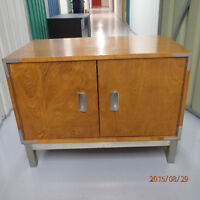 Small solid wood cabinet/ night stand -two doors