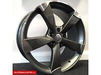 "18"" TTRS Style Alloy wheels & Tyres LEON, A3 MK2 MK3 VW Passat, Jetta, Golf MK5, MK6, MK7, Caddy"
