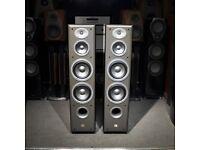JBL E80 FLOOR STANDING SPEAKERS X 2 SAND COLOUR