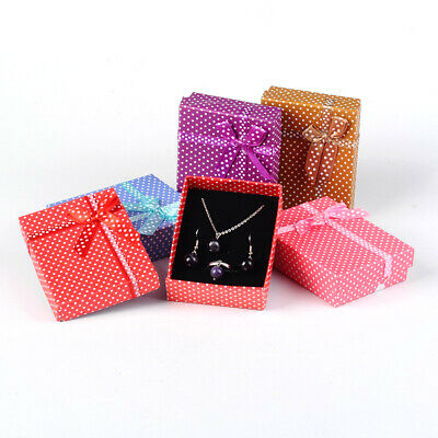108 Pcs Rectangle Valentines Day Gifts Cardboard Jewelry Set Boxes 90x70x26mm