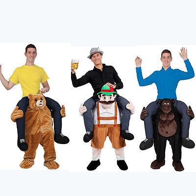 Halloween Carry Teddy bear Mascot Costume Dress Ride On Me animals Adults size (Animals On Halloween)