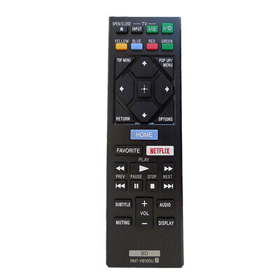 Black RMT-VB100U Remote Control For Sony Blu-ray DVD Player BDP-S1500 S3500 Part