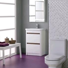 Roper Rhodes Refresh 600mm Floor Standing Vanity Unit & Ceramic Basin