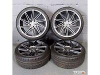 "Ex Display 19"" Veemann V-FS26 gunmetal Alloy Wheels A4, A3 MK2 MK3 Passat, Jetta, Golf MK5, MK6, MK7"